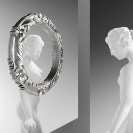 Ritratto Baroque Mirror by Fiam