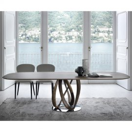 Infinity Wood Dining Table by Porada