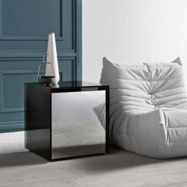 Gotham Side Table End Table by Tonelli