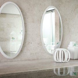 Four Seasons Oval Mirror by Porada