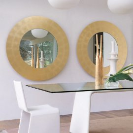 Four Seasons Tondo Mirror by Porada