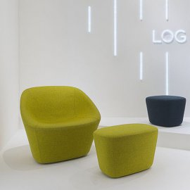 Log Lounge 366 Lounge Chairs by Pedrali