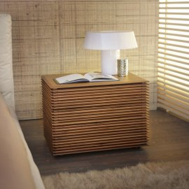 Riga 2 Nightstand End Table by Porada