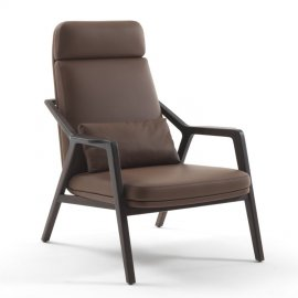 Loretta Lounge Chair by Porada
