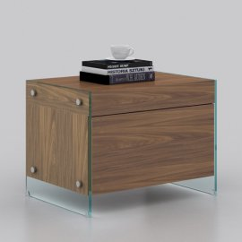 Il Vetro Nightstand CB-111 by Casabianca