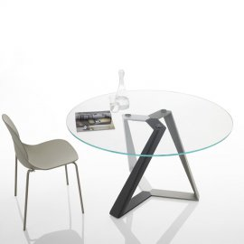 Millennium Round Dining Table by Bontempi