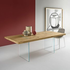 Tavolante Aged Oak Dining Table by Tonelli