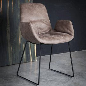 Step Armchair Sled 904.92 Chairs by Tonon