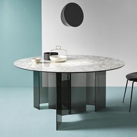 Metropolis Ceramic Dining Table by Tonelli