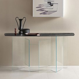Metropolis Console Ceramic Console Table by Tonelli