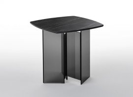Metropolis Side Table End Table by Tonelli