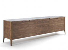 Atlante 4 Wood Sideboard by Porada