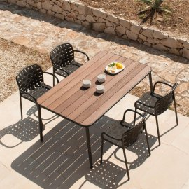 Yard Dining Table (Wood Top) by Emu