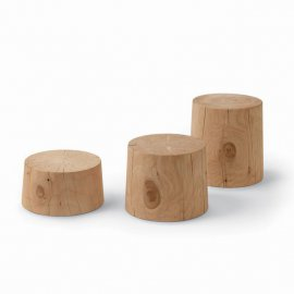 Legno Vivo Small Table End Table by Riva 1920