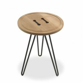 Button Small Table End Tables by Riva 1920
