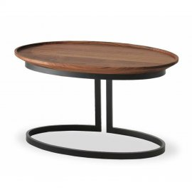 Wing Rotondo & Ovale End Tables by Riva 1920