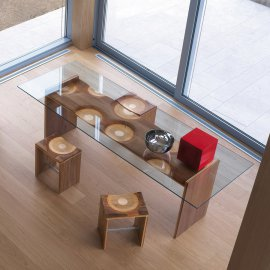 Ripples Table Dining Table by Horm