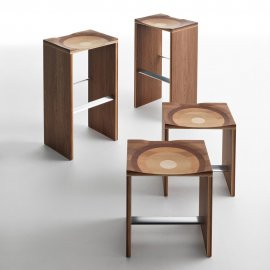 Ripples Wooden Bar & Counter Stool by Horm
