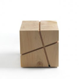 J+I Crocetta Stool by Riva 1920