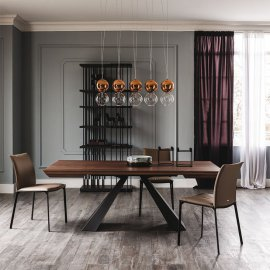 Eliot Wood Drive Extendable Dining Table Dining Tables by Cattelan Italia