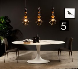 Imperial Oval Glass Dining Table by Tonin Casa