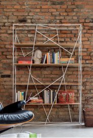 Naviglio Metal and Wood Bbookcase by Tonin Casa