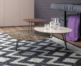 Log Wood Marble Coffee Table by Tonin Casa