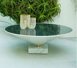 Flute Glass Coffee Table  by Tonin Casa