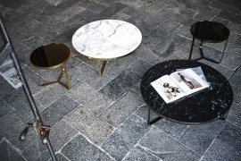 Cage Marble Coffee Table Coffee Table by Tacchini