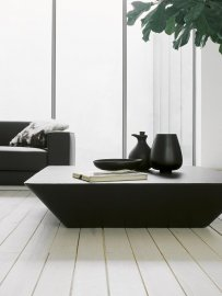 Nara Leather Coffee Table Coffee Table by Tacchini
