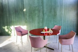 Split Marble Dining Table Dining Table by Tacchini