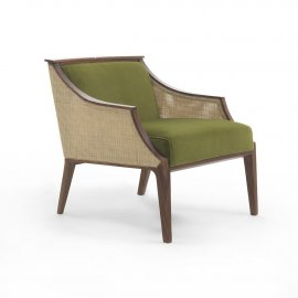 Liala Straw Easy Chair Lounge Chair by Porada