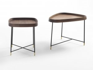 Fritz Side Table End Table by Porada
