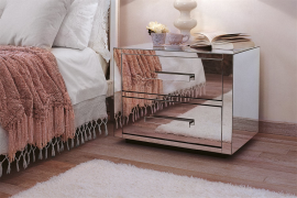 Queen 2 Night/Bedside Table Bed by Porada