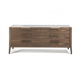 Ziggy Night 6 Chest Drawer Cabinet by Porada