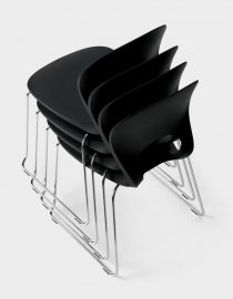 Pikaia slide base Chair by Kristalia