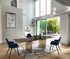 Waves Dining Table Dining Tables by Fiam