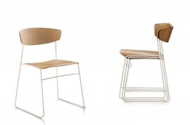 Wolfgang Sled Metal Chair Chairs by Fornasarig