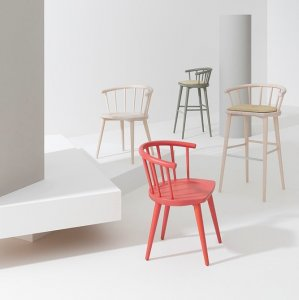 W Barstool by Billiani
