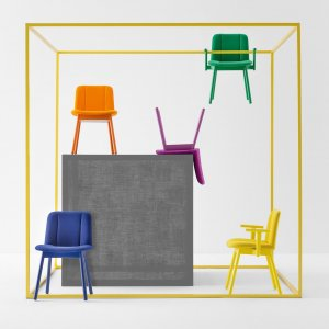 Hippy Dining Chair by Billiani