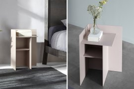 Cuatro Bedside Table End Table by Punt Mobles