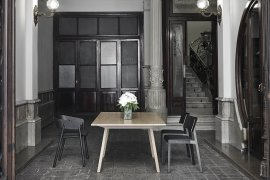 Mitis Wood Dining Table by Punt Mobles