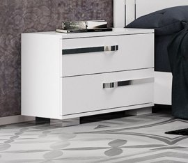 Wave Nightstand End Table by Casabianca