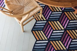 Parquet Hexagon Rugs by Gan Rugs