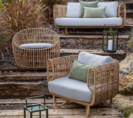 Nest Round Lounge Chair by Cane-line
