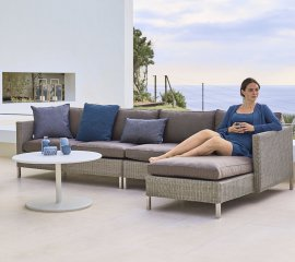 Connect 2 Seat Right Module Sofa  by Cane-line