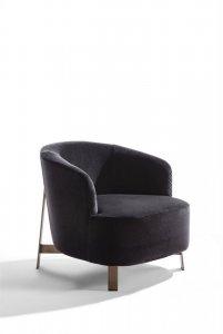 Copine Steel Armchair by Porada
