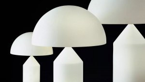 Atollo Glass Table Lamp Lighting by Oluce