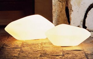 Stone of Glass Lamp Lighting by Oluce
