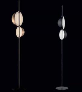 Superluna Floor Lamp Lighting by Oluce